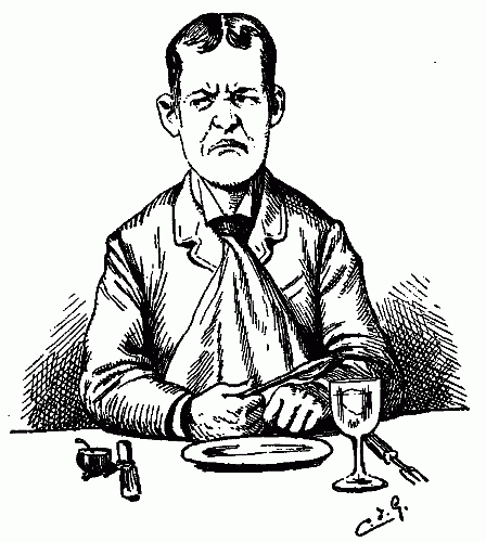 http://public-domain.zorger.com/samantha-at-the-worlds-fair/hungry-angry-unhappy-man-waiting-for-dinner-poor-service-bad-review-restaurant-pen-ink-drawing.png