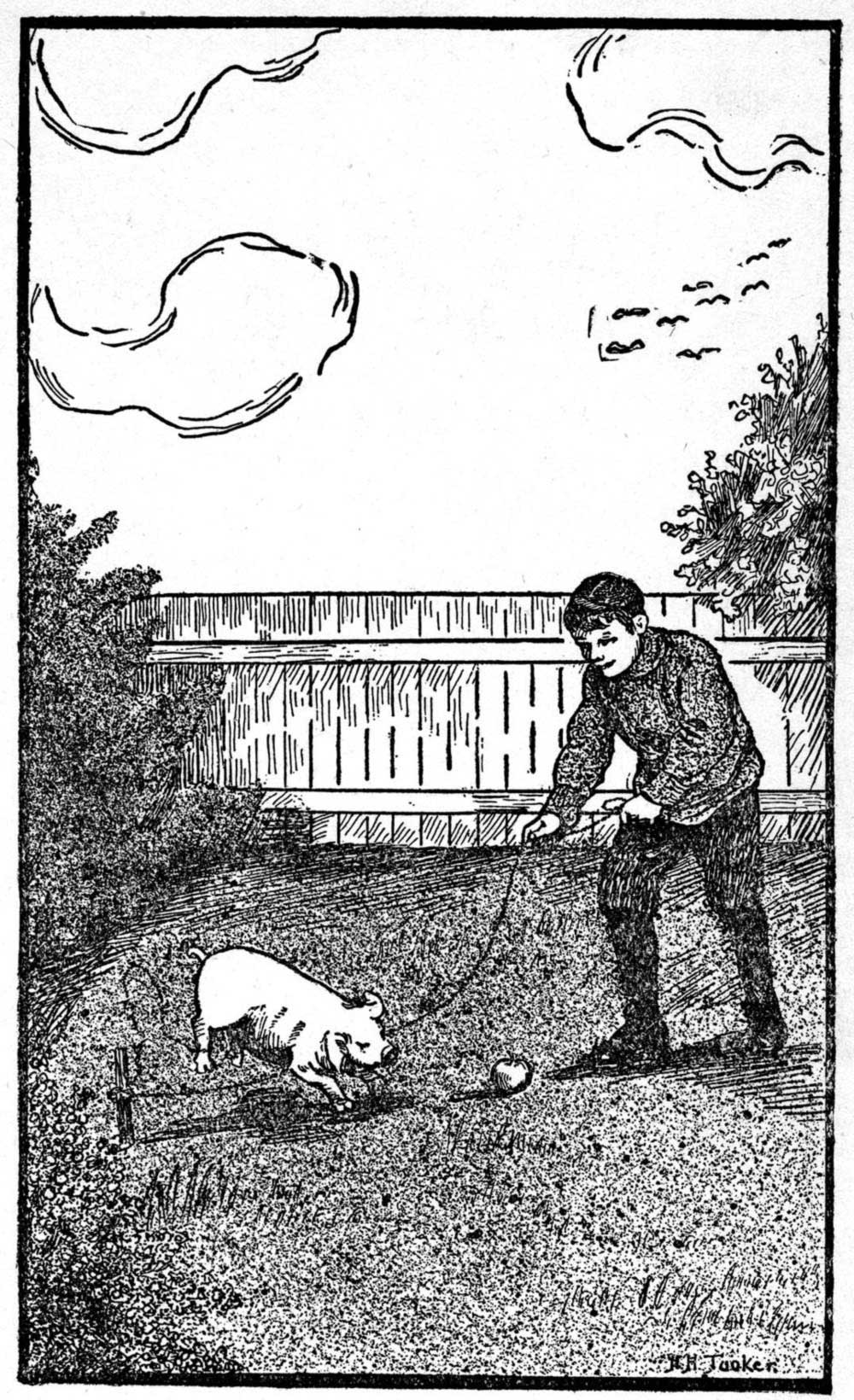 Public domain images 6 line drawing of a boy with training a pig free public domain image 6 line drawing of a boy with training a pig to jump baanklon Choice Image